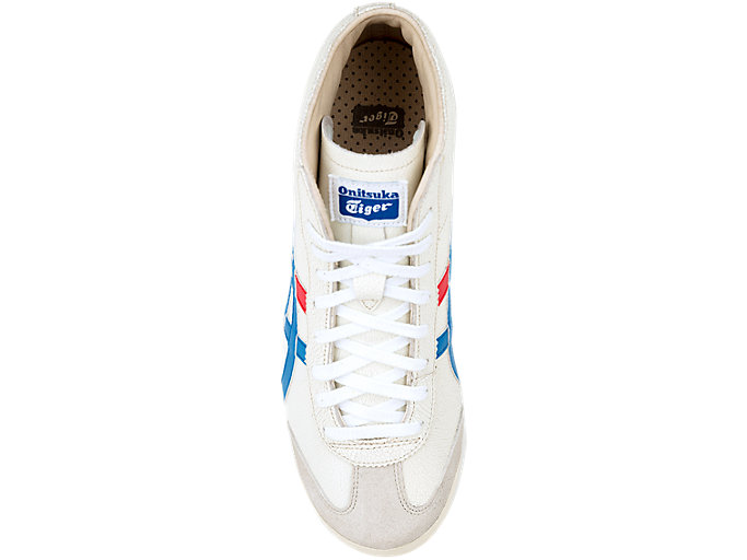 Top view of Mexico Mid-Runner, WHITE/BLUE