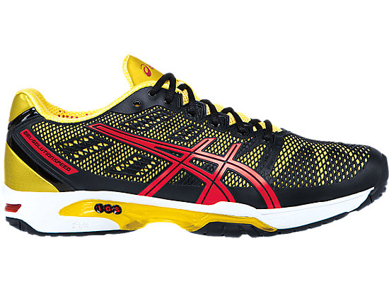 buy popular b7f72 a87e2 GEL-Solution Speed 2   Men   Black Fiery Red Yellow   ASICS US