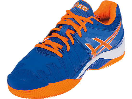 GEL-Resolution 6 Clay Court Blue/Flash Orange/Silver 11