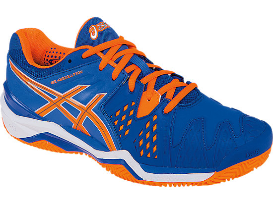 GEL-Resolution 6 Clay Court Blue/Flash Orange/Silver 7