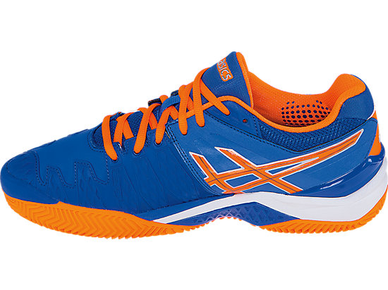 GEL-Resolution 6 Clay Court Blue/Flash Orange/Silver 15