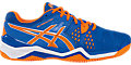 GEL-Resolution 6 Clay Court:Blue/Flash Orange/Silver