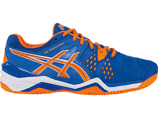 GEL-Resolution 6 Clay Court Blue/Flash Orange/Silver 3