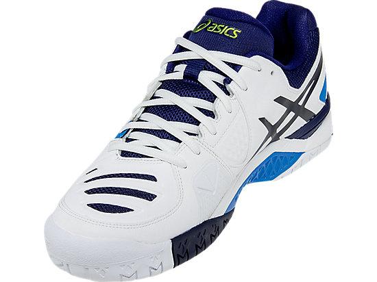 GEL-Challenger 10 White/Lime/Indigo Blue 11