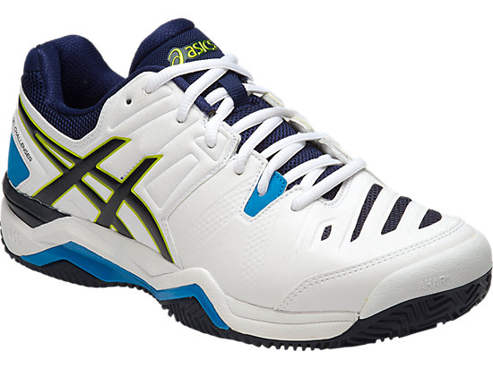 GEL-CHALLENGER 10 (CLAYCOURT OUTSOLE) WHITE/LIME/INDIGO BLUE 3