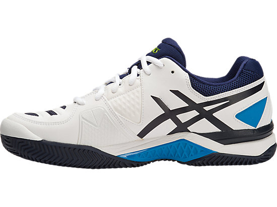 GEL-CHALLENGER 10 (CLAYCOURT OUTSOLE) WHITE/LIME/INDIGO BLUE 11