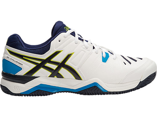 GEL-CHALLENGER 10 (CLAYCOURT OUTSOLE) WHITE/LIME/INDIGO BLUE 15