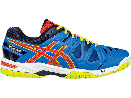 Men Asics Colour Methyl Lime Tennis Shoes Gel-Game 5 Blue Orange