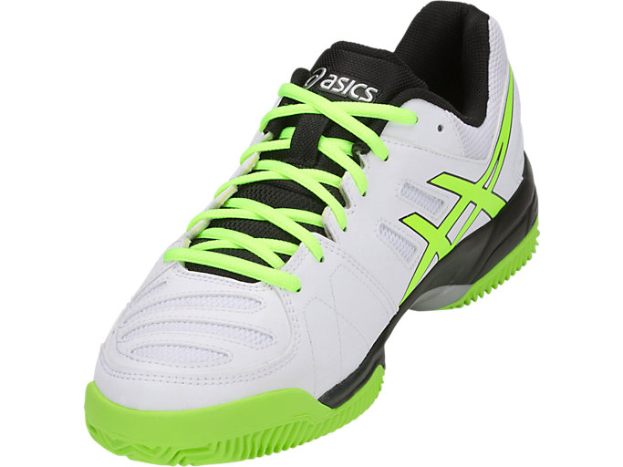 Front Left view of GEL-PADEL™ PRO 3 SG, WHITE/FLASH YELLOW