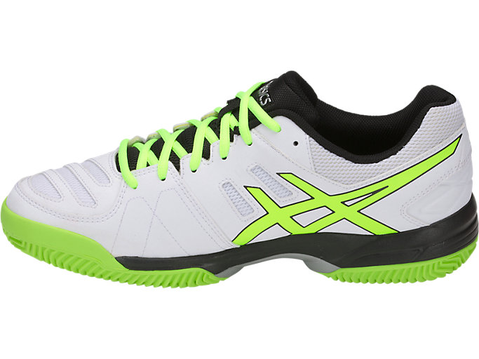 Left side view of GEL-PADEL™ PRO 3 SG, WHITE/FLASH YELLOW