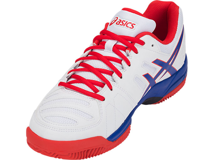 Front Left view of GEL-PADEL™ PRO 3 SG, WHITE/ASICS BLUE