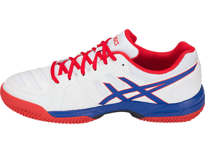 Left side view of GEL-PADEL™ PRO 3 SG, WHITE/ASICS BLUE