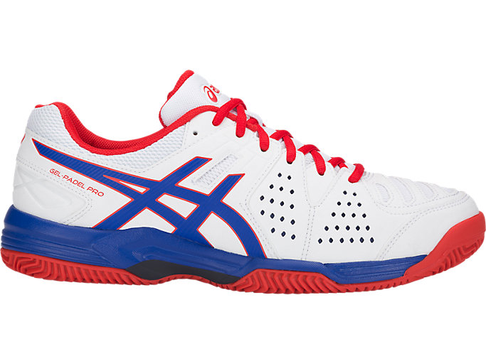 Right side view of GEL-PADEL PRO 3 SG, WHITE/ASICS BLUE