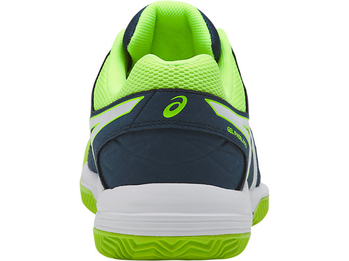 Back view of GEL-PADEL™ PRO 3 SG, DARK BLUE/WHITE/SAFETY YELLOW