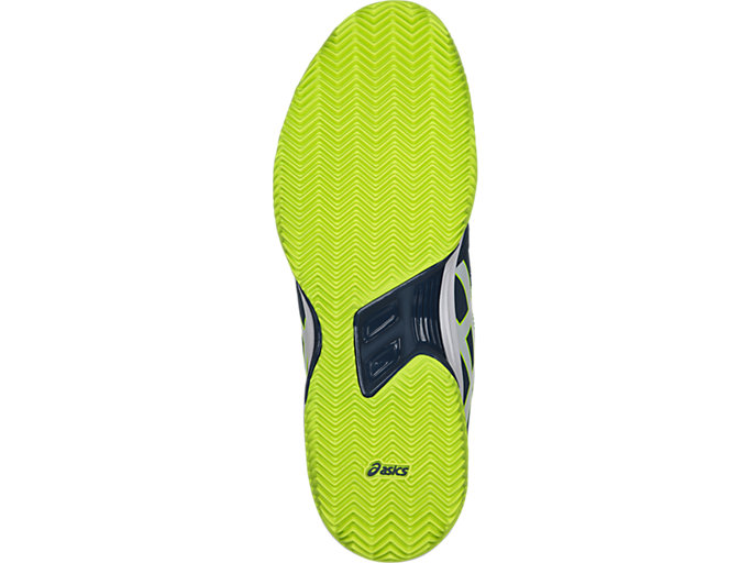 Bottom view of GEL-PADEL™ PRO 3 SG, DARK BLUE/WHITE/SAFETY YELLOW