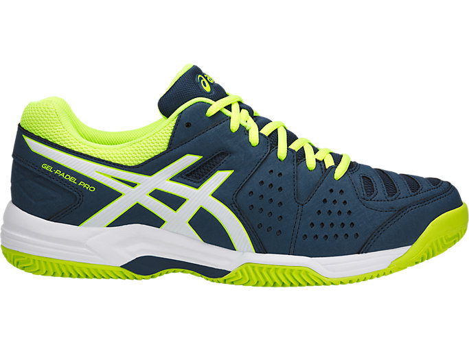 Right side view of GEL-PADEL™ PRO 3 SG, DARK BLUE/WHITE/SAFETY YELLOW