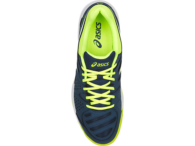 Top view of GEL-PADEL™ PRO 3 SG, DARK BLUE/WHITE/SAFETY YELLOW