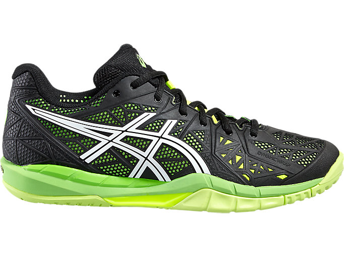 Asics Gel FIREBLAST 2 Men blackwhitesafety yellow