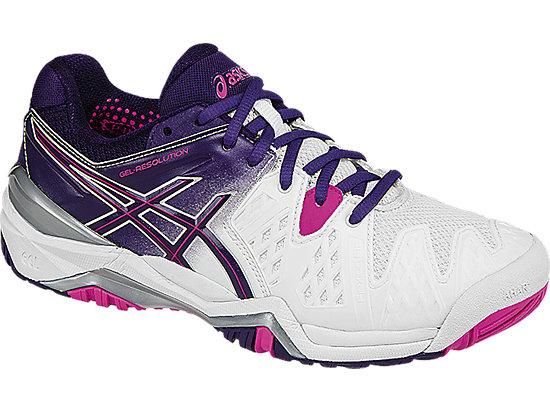 GEL-Resolution 6 White/Parachute Purple/Hot Pink 7