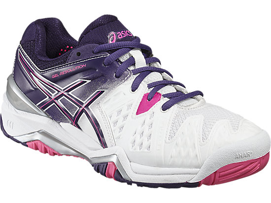 GEL-RESOLUTION 6 WHITE/PARACHUTE PURPLE/HOT PINK 7