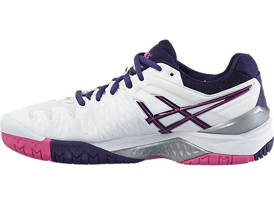 GEL-RESOLUTION 6 WHITE/PARACHUTE PURPLE/HOT PINK 11