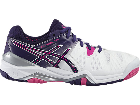 GEL-RESOLUTION 6 WHITE/PARACHUTE PURPLE/HOT PINK 3