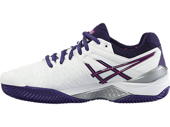GEL-RESOLUTION 6 CLAY WHITE/PARACHUTE PURPLE/HOT PINK 11