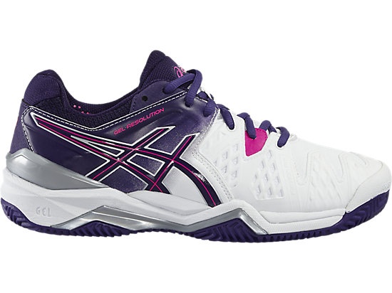 GEL-RESOLUTION 6 CLAY WHITE/PARACHUTE PURPLE/HOT PINK 15