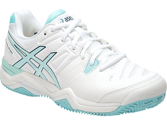 GEL-CHALLENGER 10 (CLAYCOURT OUTSOLE) WHITE/CRYSTAL BLUE/BLUE STEEL 3