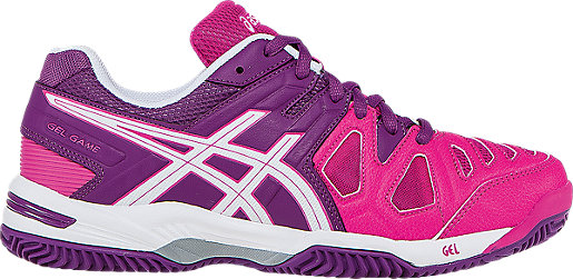 Womens Gel-Game 5 Tennis Shoes, Pink Asics