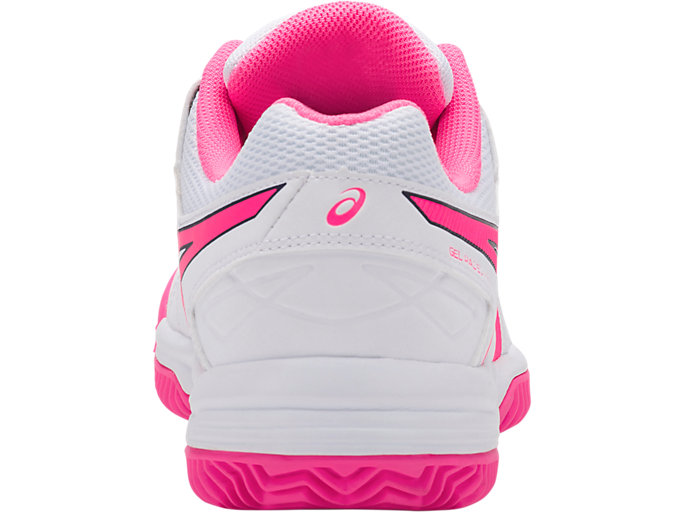 Back view of GEL-PADEL™ PRO 3 SG, WHITE/HOT PINK