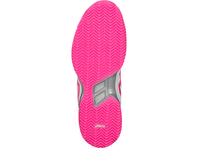 Bottom view of GEL-PADEL™ PRO 3 SG, WHITE/HOT PINK