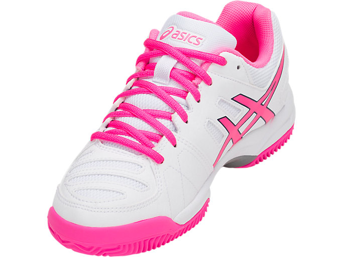 Front Left view of GEL-PADEL™ PRO 3 SG, WHITE/HOT PINK