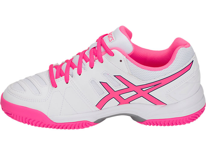 Left side view of GEL-PADEL™ PRO 3 SG, WHITE/HOT PINK