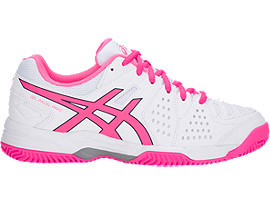 Right side view of GEL-PADEL PRO 3 SG, WHITE/HOT PINK