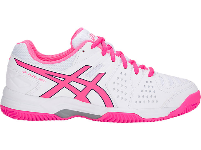 Right side view of GEL-PADEL™ PRO 3 SG, WHITE/HOT PINK