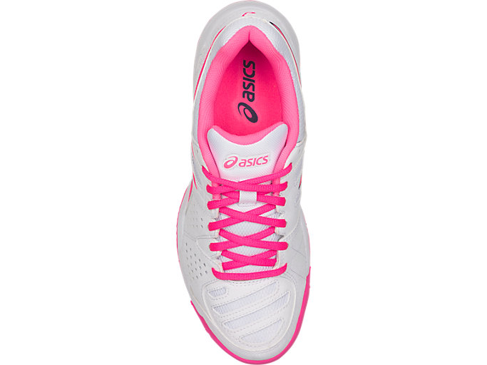 Top view of GEL-PADEL™ PRO 3 SG, WHITE/HOT PINK