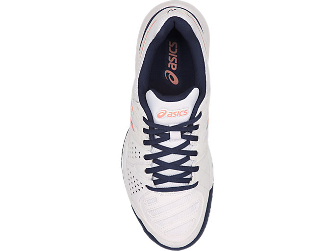 Top view of GEL-PADEL™ PRO 3 SG, WHITE/GRAPEFRUIT