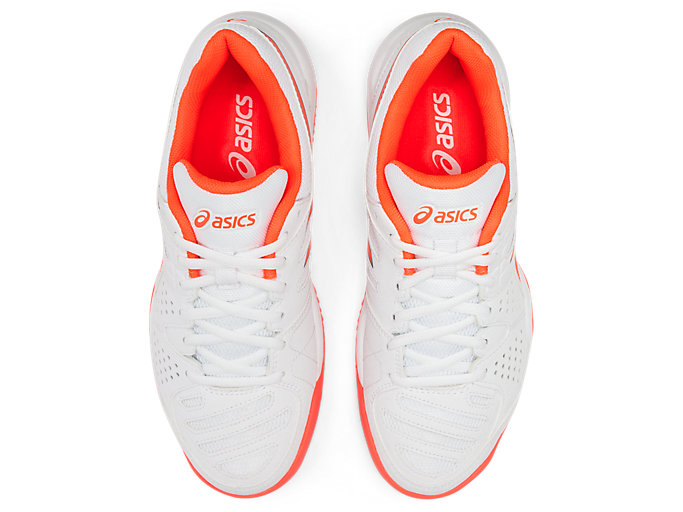 Top view of GEL-PADEL™ PRO 3 SG, WHITE/FLASH CORAL