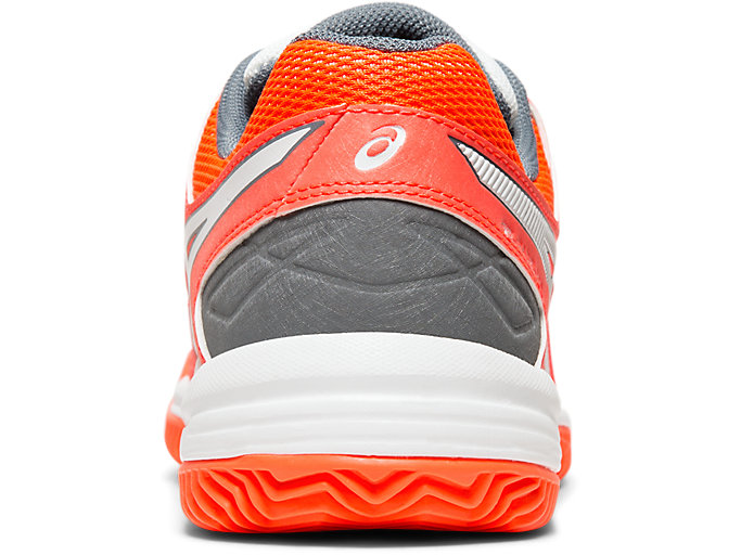 Back view of GEL-PADEL™ PRO 3 SG, FLASH CORAL/WHITE