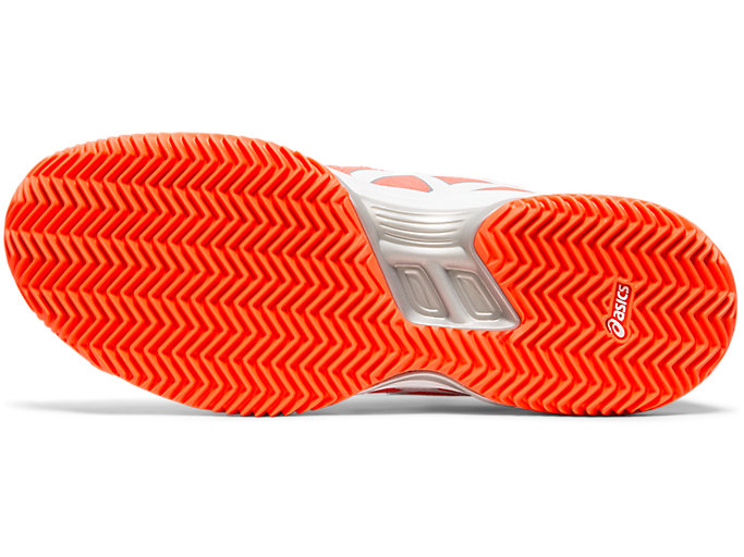 Bottom view of GEL-PADEL™ PRO 3 SG, FLASH CORAL/WHITE