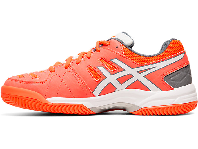Left side view of GEL-PADEL™ PRO 3 SG, FLASH CORAL/WHITE