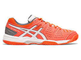 Right side view of GEL-PADEL™ PRO 3 SG, FLASH CORAL/WHITE