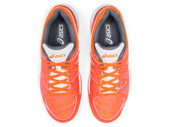 Top view of GEL-PADEL™ PRO 3 SG, FLASH CORAL/WHITE