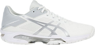 GEL-SOLUTION SPEED 3 - Outdoor tennis shoes - white/silver