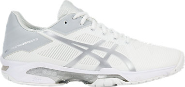 0315ae7ee8 GEL-Solution Speed 3 | WOMEN | White/Silver | ASICS US