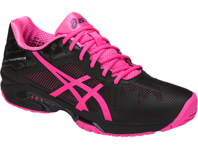 Women's GEL Solution Speed 3 BlackHot PinkSilver  BlackHot PinkSilver