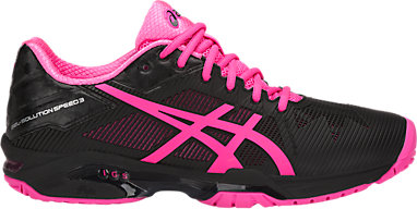 fe0a02d55 GEL-Solution Speed 3 | WOMEN | Black/Hot Pink/Silver | ASICS US