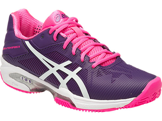 GEL-SOLUTION SPEED 3 (CLAY COURT OUTSOLE) PARACHUTE PURPLE/WHITE/HOT PINK 3