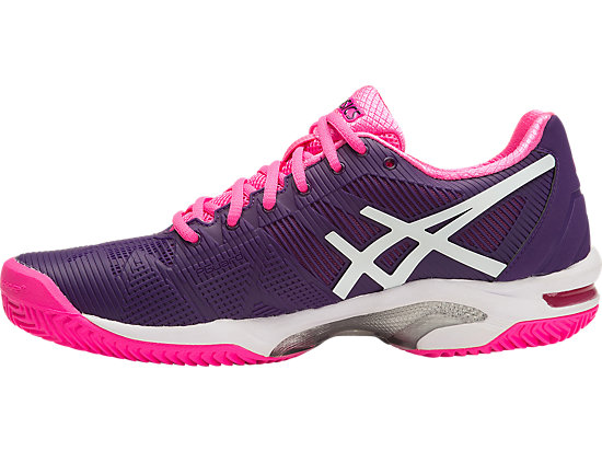 GEL-SOLUTION SPEED 3 (CLAY COURT OUTSOLE) PARACHUTE PURPLE/WHITE/HOT PINK 11